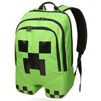 Wholesale 1PCS Minecraft Backpack Game My World PVC Waterproof Shoulder Children School Bags Boys Mochila Double Shoulder Schoolbag Creeper Backpack