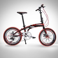 Wholesale 20in Mini Folding Bike SHIMAN0 Gears Portable Mountain Road Bicycle Aluminum Frame City Sports Bike with Mechanical Brakes