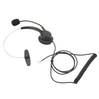 Wholesale 1pc Call Center Pro Operator Telephone Headset with Mic With Crystal Head