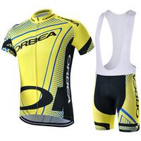 2015 Orbea Pro Cycling Jerseys Roupa Ciclismo / verano transpirable Racing ropa de la bicicleta / Quick-Dry Lycra GEL Pad Race MTB Bike Bib Pantalones