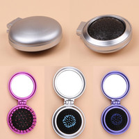 Wholesale New Arrival Women Cosmetic Mirror Comb Set Portable Pocket Makeup Mirrors Makeup Tools Christmas Gift ZXW