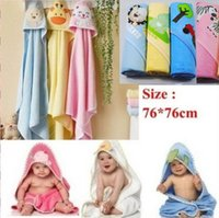 Wholesale drop shipping High Quality cm Children s Embroidery Cotton Bathrobe Infants Towels Baby Kids Bath Towel