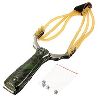Wholesale 2014 New Arrival Top Quality Powerful Steel Slingshot Catapult Outdoor Marble Games Hunting Sling Shot