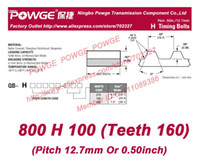 belt pitch length - 2pcs H Timing belt H Teeth Width mm quot length mm Pitch mm H100 Neoprene Fiberglass core H Belt