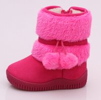Wholesale 2016 Hot Children Winter Snow Boots Boys Girls Add Fur Cotton zipper Soft Warm Sneakers Brand Short Boots size BBX100