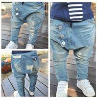 Wholesale Sale Autumn Boys jeans children s denim clothing brand kids jeans pants baby kids fashion harem jeans trousers calca jeans