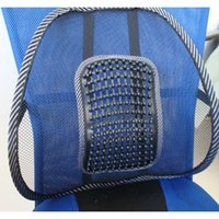 Wholesale High quality new Car Seat Office Chair covers Back brace Lumbar pillow Support Massage Mesh Ventilate Cushion Support Pad Mat