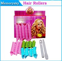 Wholesale Hot Selling Instant DIY Perm Tool Circle Spiral Hair Curler Roller with a Magic Leverag Hair Styling No Hurt Hair set