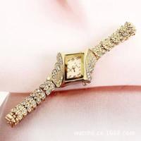 al por mayor pulseras de diamantes con descuento-Descuento Sra subió mesa brazalete de diamantes de negocio de diseño de moda de suministro de oro, reloj de los fabricantes ms Corea venta