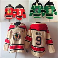 authentic hoodies - Cheap Chicago Blackhawks Hoodies Bobby Hull Sweatshirts Mens Nhl Ice Hockey Stitched Authentic Old Time Hockey Hoodies size S XL
