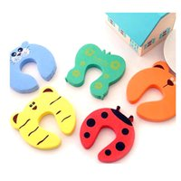 Wholesale 2pcs CUTE Door Stopper Jammer Anti Finger Pinch Lock kids Safety Guard Protector