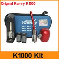 Cheap Original K1000 E Pipe Mechanical Mod Kit K1000 Pipe Electronic Cigarette kit 18350 900mAh Battery in Zipper Case Free Shipping By DHL