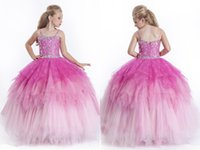 Cheap Model Pictures girls pageant dress Best Girl Beads ball gowns
