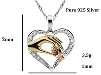 Cheap Real Pendant Necklaces Middle Eastern 925 Sterling Hand for Mom And Baby Pendants for Pingente Necklaces & Jesus Pingentes Charms New 2015