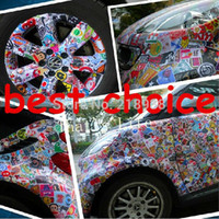 Wholesale Drop shipping single sticker wall home decor laptop motorcycle doodle sticker travelcase decal car accessories car sticker