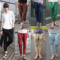 linen pants - Brand New Design Mens Shirts High Quality Casual Men Summer Pants Linen Trousers Ankle Length Loose Colors Cotton Trousers Pants D1001
