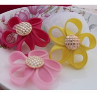 baby products - New Stock Baby Hair Product Fabric Zipper Flower With Button Girls Hair Accessory Freeshipping ZBM01