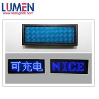 Wholesale Blue Ultra Bright Programmable LED Name Badge Tag Display Clubbing Rave Bar Mini