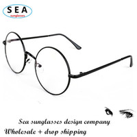 Wholesale Classic Harry Potter glasses frame MEN metal round eyeglasses women oculos de grau femininos can customize the myopic lens s0122
