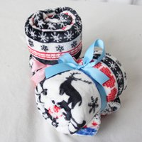 airplane baby blankets - Super Sofa Flannel christmas deer Small Blanket For Baby Car and Airplane cm