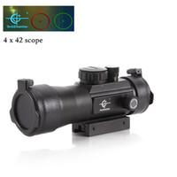 Wholesale New X42 optical zoom mode red and green cross sight riflescope hunting gunsight for gun camera bird waching