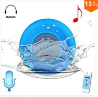 4.1 Universal HiFi Portable Subwoofer Shower Waterproof Wireless Bluetooth Speaker Car Handsfree Receive Call Music Suction Phone Mic For iPhone