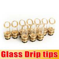 Wholesale Glass Drip tips Pyrex Glass Stainless Steel Drip tip Mouthpiece e cigarette tank drip tip