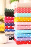 Wholesale CM dots cotton fabric diy handmade patchwork cotton fabric home textile F150418929
