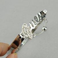 Wholesale Bestsellers Fashion simple Stylish Diamond Charm Bangle Charm Bracelet Openings