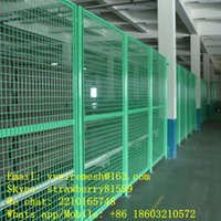 Wholesale Workshop Powder Coated In Green Wire Mesh Fence
