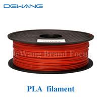 Wholesale DeWang R mm MM Redbrown D Printer Filament PLA KG Roll Plastic Rubber Consumables Material colors order lt no tr