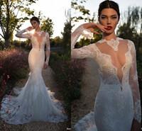 Cheap mermaid lace wedding dresses 2015 Best sexy berta bridal dresses