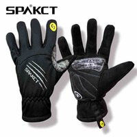 finger bmx bike - SPAKCT Winter Warm Men Skull SRG Silicone Gel Paded Road MTB BMX Bike Bicycle Cycling Cycle Wear Full Long Finger Gloves Color