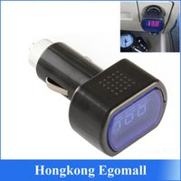 Wholesale Auto Car Electric DC V V LED Display Cigarette Lighter Battery Voltage Meter Tester Car Cigarette Lighter