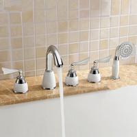 bathtub trim - 2015 New Arrival Patent Design Classic Solid Brass Roman Tub Trim Filler Bathtub Faucet with handshower