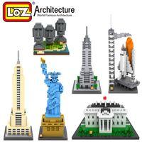 architecture construction - New Arrivals LOZ Construction Building Bricks Famous Architecture D Model Kits Easter Island Diamond Blocks Toys