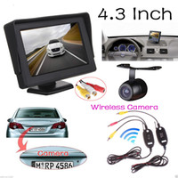 tv transmitter and receiver - 4 inch TFT LCD Car Rearview Monitor Waterproof Backup Parking Camera TV Lines CCD Video Transmitter and Receiver CMO_50L