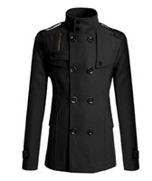 Wholesale Fall Promotion Solid Cashmere Cotton Full Jas New Zipper Man Long Double Breasted Man s Coat Trench