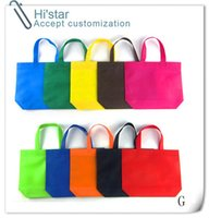 abs punching - 20pcs Customized Logo Sell stock punch handle cheap non woven shopping bag