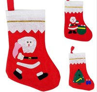 bag tee - Christmas Stocking christmas socks supplies Red Santa Socks Snowman Christmas Tee Patter Kid Gift Stockings various patterns bag