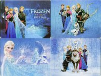 Wholesale 40pcs pack Frozen Puzzlee Cartoon Movies Princess Anna Elsa Characters Pattern Children Education Games Toys For Kids Gifts