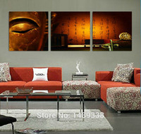 Cheap 3 Panel Modern Wall Painting Buddha painting Home Wall Art Home decoration Picture Print on Canvas Prints art with framed T 509