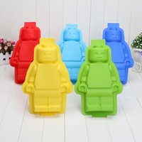 big ice tray - 50pcs Big Robots Silicon Ice Cube Tray Cake Baking Moulds Soap Molds Silicone Ice Mold