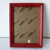wood picture frame - Wood Simple Modern Inch Red Picture Frame wedding classic photo frames Christmas Gifts W1
