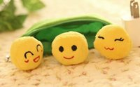 animal bean bags - Super Kawaii CM Green Pea Beans DOLL Plush Stuffed Keychain TOY BAG Pendant TOY BAG Wedding Bouquet TOY Gift DOLL