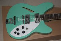 guitars - Top Quality RICKEDBACKER string electric guitar sky blue double socket empty heart guitar in stock