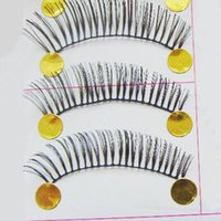 artificial cotton stems - 10 pairs pack Hand made cotton stem nurtal thick false artificial eyelashes female accessory