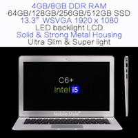 slim laptop - DHL in Stock inch i5 Intel gb ram GB SSD Laptop LED backlight LCD Win7 Win8 Notebook laptops Ultra slim C6 i5