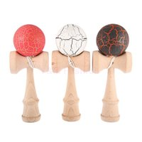 Wholesale 2015 Brand New Japan Toy Kendama Ball Crack Paint Juggling Ball Japanese Traditional Toy Balls Educational Toys For Children