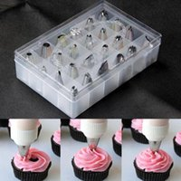 box cutter - 24Pcs Set Box Set Icing Piping Nozzles Pastry Tips Cupcake Cake Decorating Diy Tool Kitchen Accessories cozinha cookie cutter